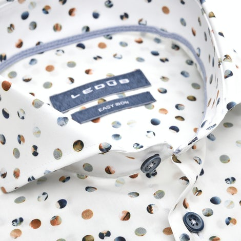 Multicolor print modern fit shirt with extra long sleeves 0139833-916-000-000