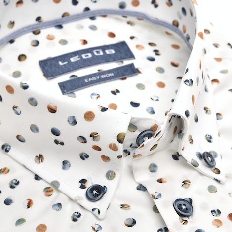 Multicolor print modern fit shirt with short sleeves 0139834-916-000-000