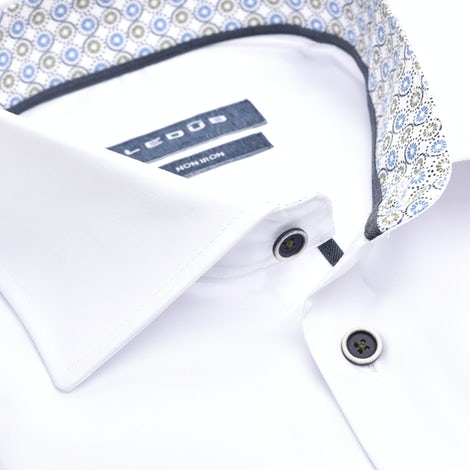 White non-iron modern fit shirt with extra long sleeves 0139921-910-165-285