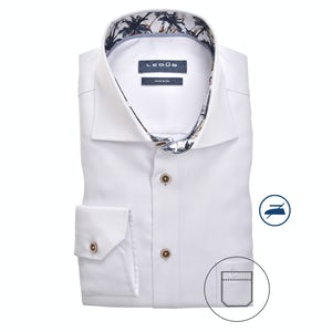 White non-iron modern fit shirt 0139935-910-170-171