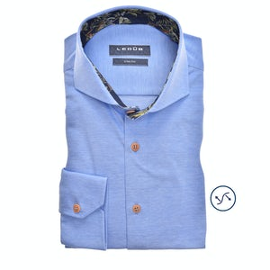 Light blue tricot slim fit shirt 0139986-140-170-000