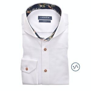 White tricot modern fit shirt 0139987-910-170-000