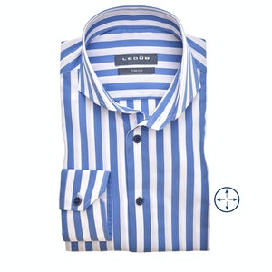 Blue/white stripe slim fit shirt 0140016-160-000-000