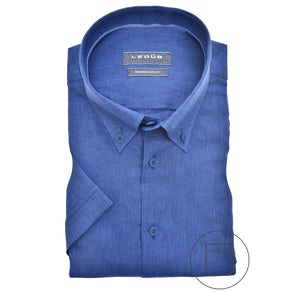 Blue modern fit shirt with short sleeves 0140117-170-160-000
