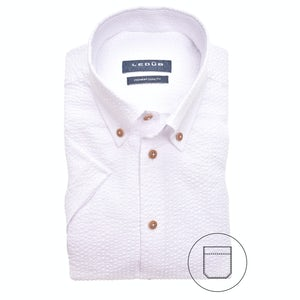White modern fit shirt with short sleeves 0140165-910-000-000