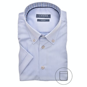 Light blue, non-iron, short sleeved modern fit shirt 0140403-120-156-119