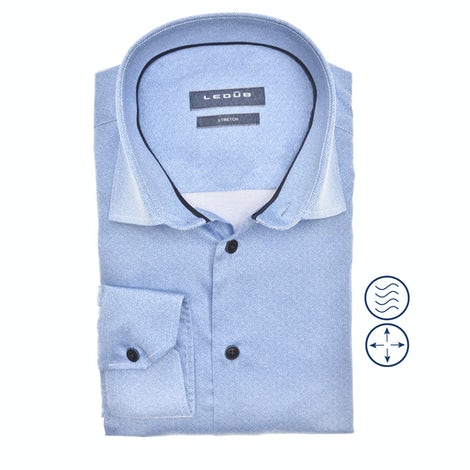 Light blue stretch modern fit shirt in extra long sleeve 0140545-140-190-000