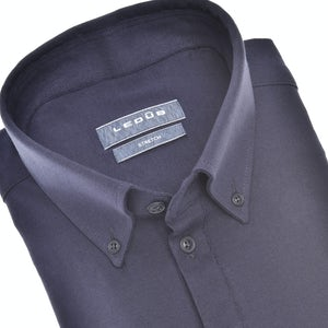 Donkerblauw tricot slim fit polo shirt 0140585-190-000-000