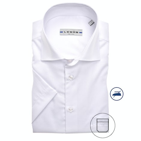 White non-iron modern fit shirt short sleeve 0323008-910-000-000