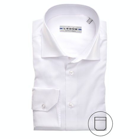 White modern fit shirt extra long sleeve 0323702-910-000-000