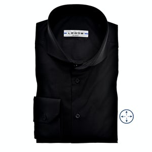 Black modern fit stretch shirt 0326510-290-000-000