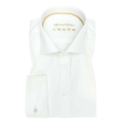 Off-white non-iron slim fit wedding shirt 0343578-920-350-000