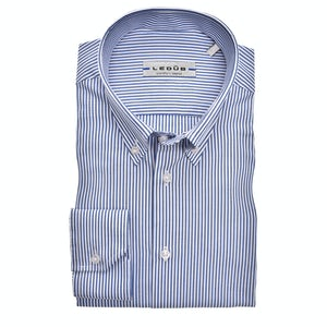 Dark blue striped slim fit shirt 0344515-180-000-000