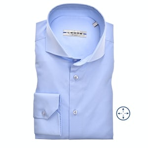 Light blue slim fit stretch shirt 0346510-120-000-000